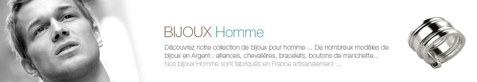 Bijoux homme en Argent fabriqués en France