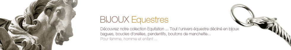 Bijoux equestres fabriqués en france en Argent, Or, ou plaqué Or