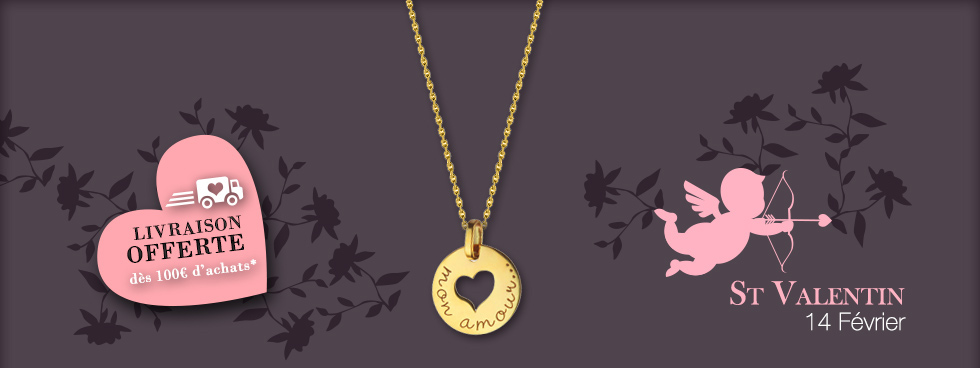 St Valentin! Idées cadeau pour elle et lui ! 1001 bijoux à tous les prix!