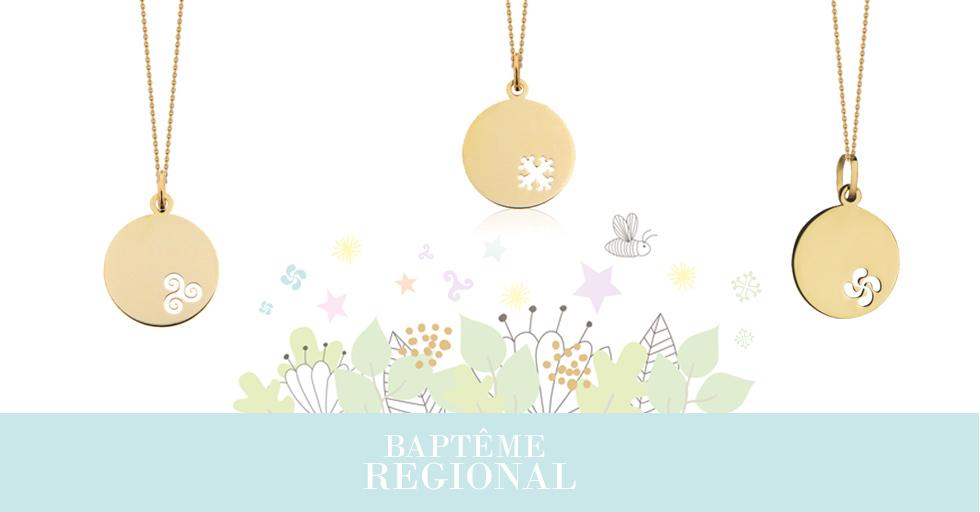 Bijoux de baptême régional: bapteme breton, bapteme occitan, ou bapteme basque, trouvez la médaille qu'il vous faut!