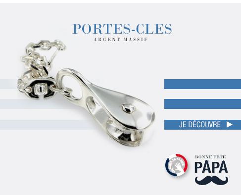 Porte clés en Argent massif fabriqués en France