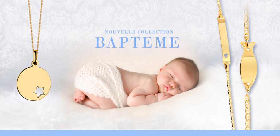 COLLECTION BAPTEME :: Medaille bapteme, gourmette bébé, de nombreuses idées cadeaux bapteme