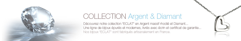 bijoux collection argent diamant