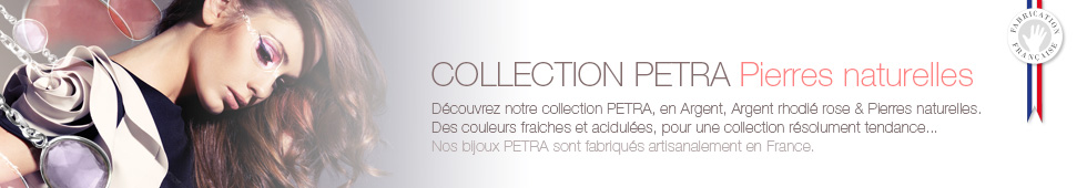Collection Bijoux PETRA, pierres naturelles & Argent