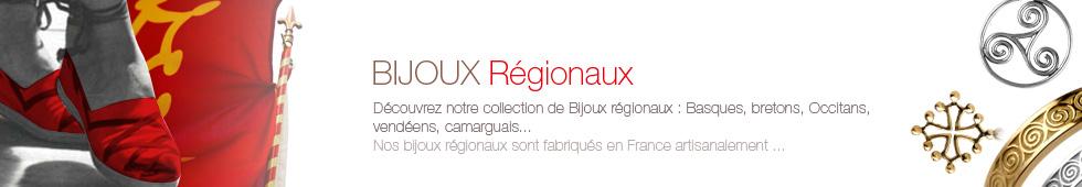 Bijoux régionaux fabriqués en France: triskell, croix basque, croix occitane, crois cathare en Argent ou en Or