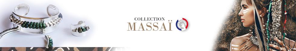 Collection de bijoux MASSAÏ, Argent & Hématites fabriqué en France