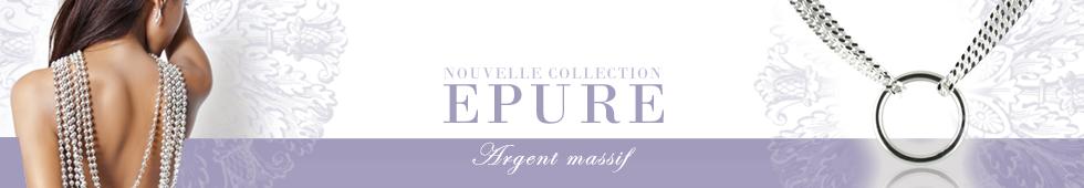 Collection de bijoux EPURE, Argent massif fabriqué en France