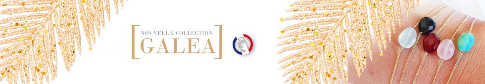 Collection GALEA, bracelets fins en Or et pierres naturelles fabriqués en France artisanalement.