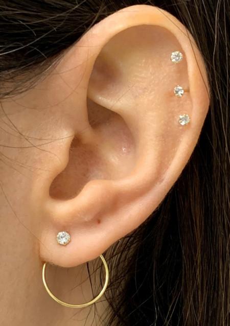 Boucles d'oreilles Or 375 °°° Tourbillon  OZ