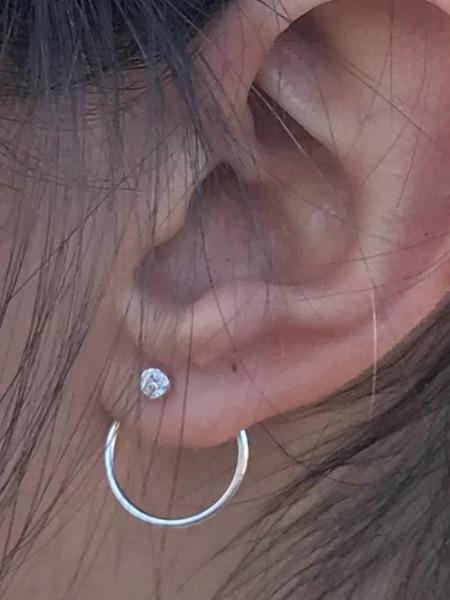 Boucles d'oreilles Argent Tourbillon OZ