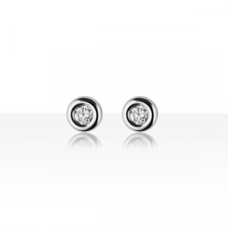 Boucles d'oreilles Or blanc 375°°° OXYDE bouée GM  - VIS