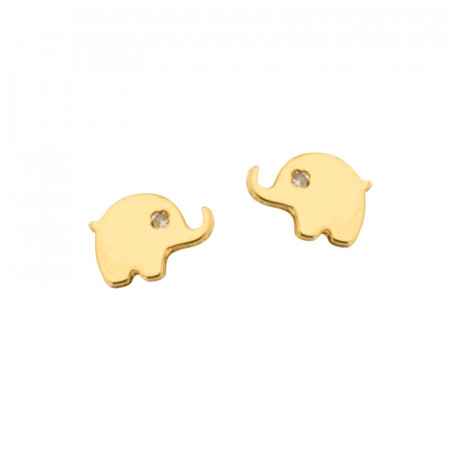 Boucles d'oreilles MINI ELEPHANT OZ Or 375°°° - VIS SECURITE
