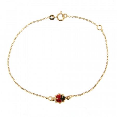 Bracelet coccinelle rouge Or 375°°°