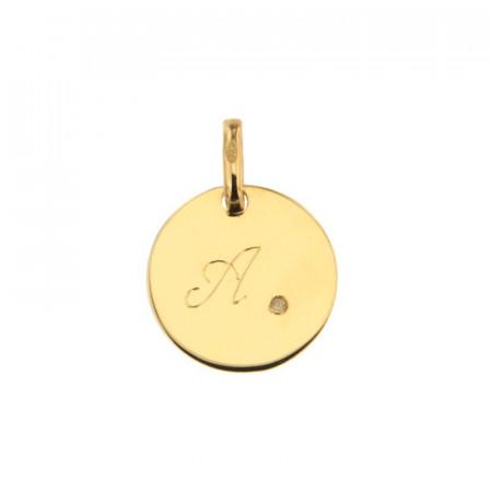 Médaille JETON Diamant Or 375°°° (12mm)