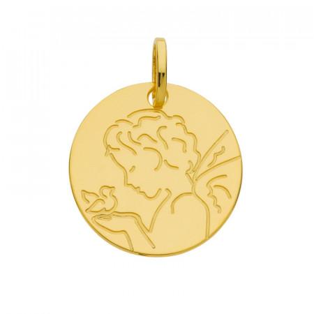 Médaille ANGE STYLISE OISEAU Or 375°°°
