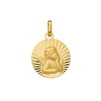 Médaille ANGE GABRIEL striée Or 375°°°