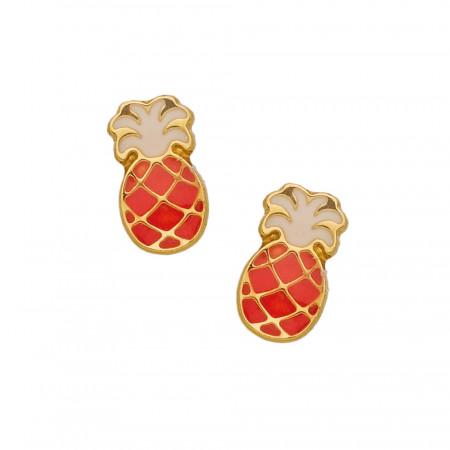 Boucles d'oreilles Ananas Or  375°°°