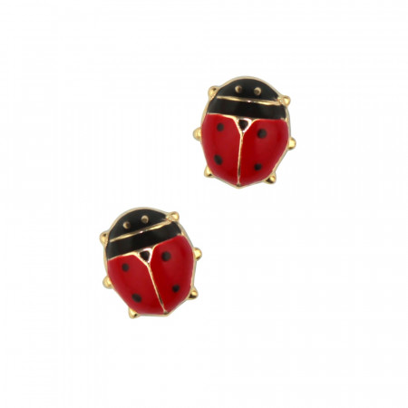 Boucles d'oreilles Or 375°°° COCCINELLE PM - VIS SECURITE