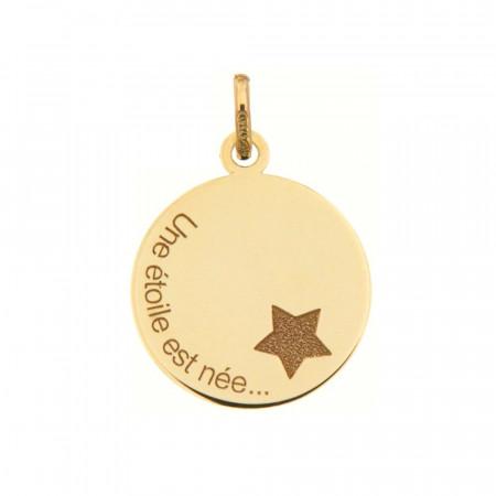 """Médaille """"Une étoile est née"""" Or 375°°°"""