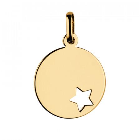 Médaille bapteme Or 375°°° ETOILE AJOUREE