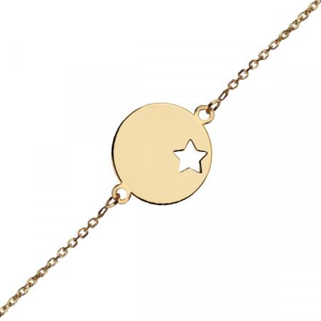 Gourmette bébé médaille étoile Or 375°°°