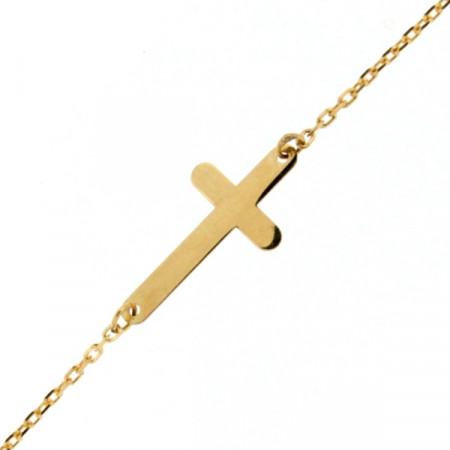 Bracelet Croix Or 375°°°
