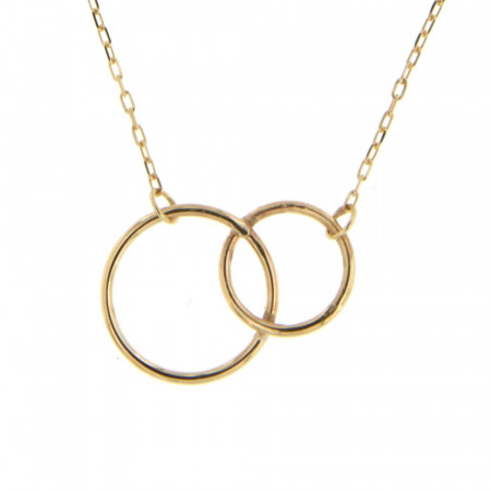 Collier Or 375°°° CIRCUS DUO 12/9mm L: 40cm