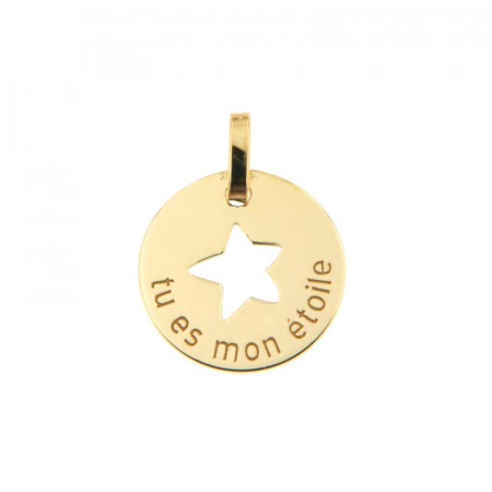 Médaille TU ES MON ETOILE Or 375°°°
