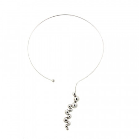 Collier Argent BOULE DECALEE