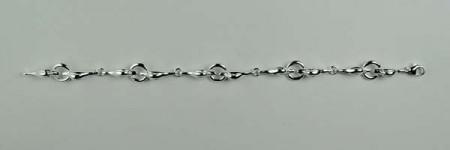 Bracelet Argent TETES CANARDS/AnneauX