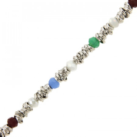 Bracelet Argent TUTTI FRUTTI Perles L: 18,5cm - l:4mm