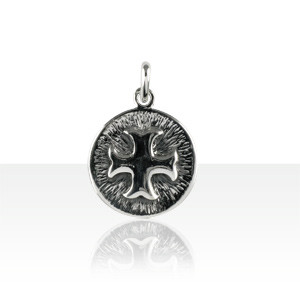 Médaille Argent FOND STRIE CROIX CATHARE