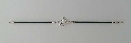 Bracelet Argent CUIR TETE/BRIDE