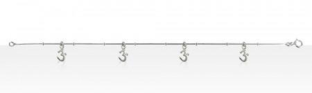 Bracelet Argent QDR/4 AUM PM PP