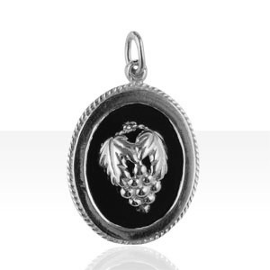 Pendentif Argent ONYX/OV-GM GRAPPE