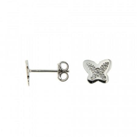 Boucles d'oreilles Argent KOTA Papillons Mini Oxydes