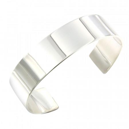 Bracelet Argent Jonc PLAK 16mm