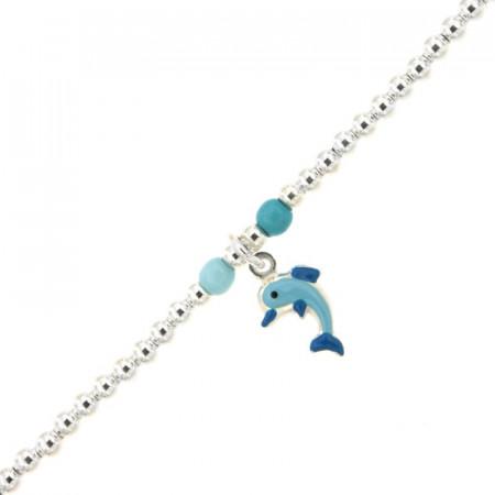 Bracelet Enfant Argent Mini BOULE Dauphin