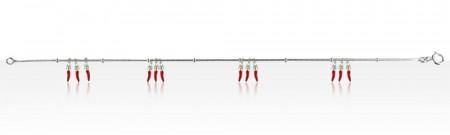 Bracelet Argent QDR Ble 4x3 PIMENTS LAQUE 1 PAMP