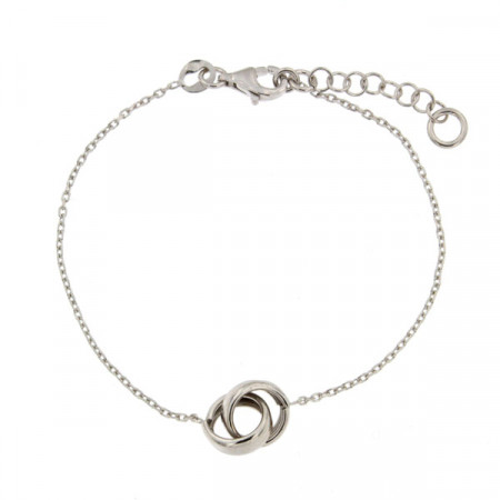 Bracelet Argent DUO entrelacé: L:16cm + 2cm