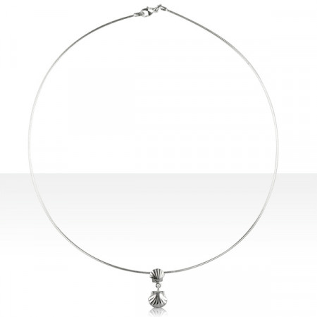 Collier Argent OMEGA 10/COQUILLE ST JACQUES DOUB