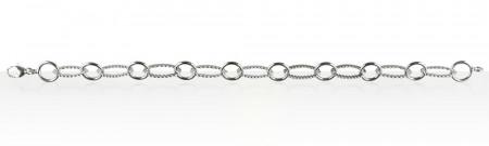 Bracelet Argent 1 ROND/1 OVALE STRIE