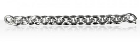 Bracelet Argent ANNEAUX FIL ROND D5 MARTELES