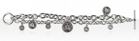 Bracelet Argent DUCA 7 PIECES/FR DOUBLE RANG
