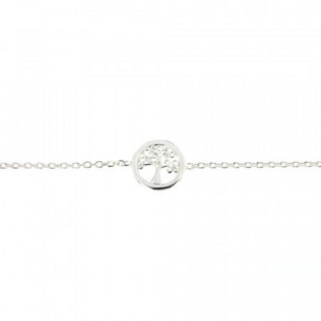 Bracelet Argent Arbre de vie Mini - 16+3cm RHODIE