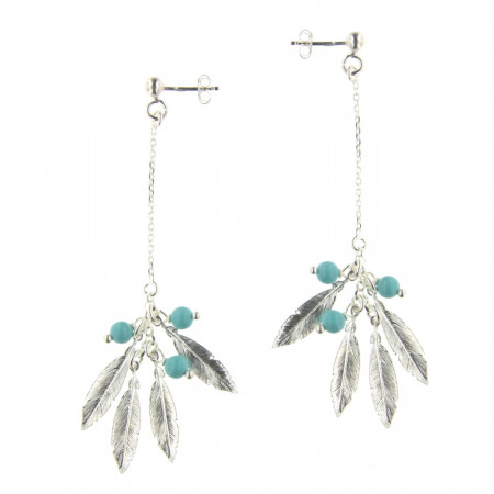 B.O. Argent PLUME Turquoise synt.