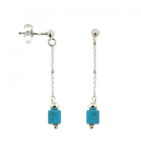 B.O. Argent MASSAI/2 -PP- 1 cube turquoise