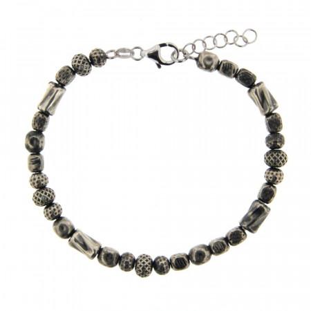 Bracelet Argent GRAPHIT Enfilage L:19+2cm