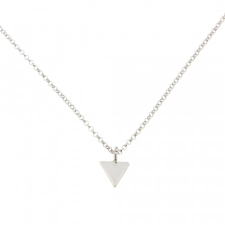 Collier Argent Triangle uni 40cm