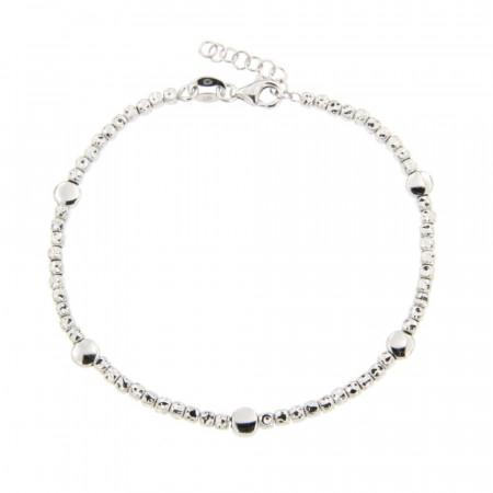 Bracelet Argent FINS ENFILAGE Cubetto - Ronds 18+2cm